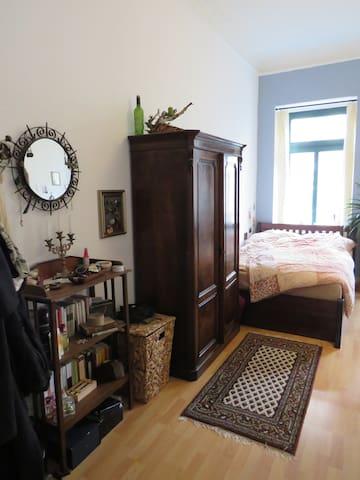Gemütliches Zimmer mit antiken Möbeln in Schleußig - Leipzig