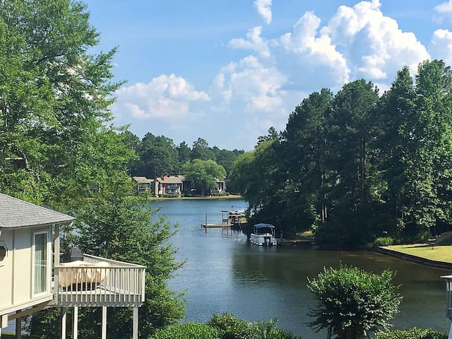 View of Lake Pinehurst from the front door.