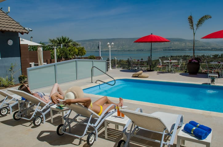 Amazing Luxury House with Jacuzzi and heated pool - Kinneret - Casa