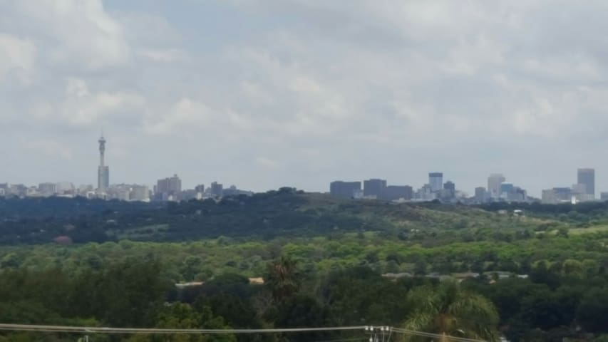 Beautiful view of Johannesburg City.