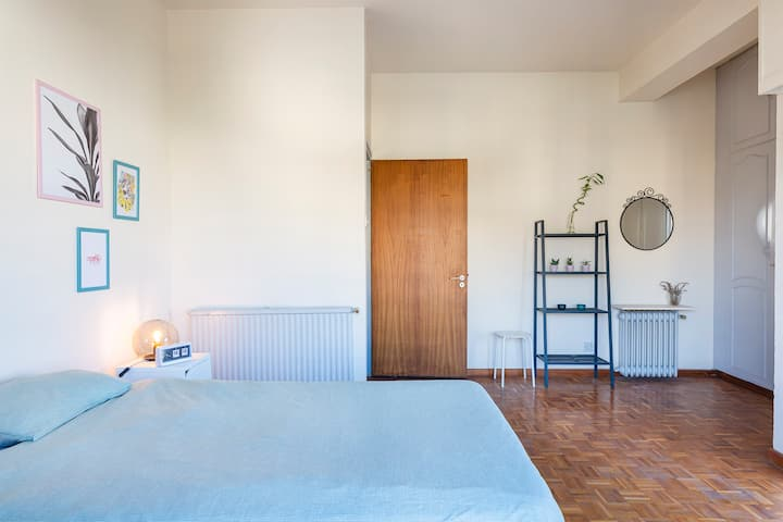 Spacious bedroom with private balcony!