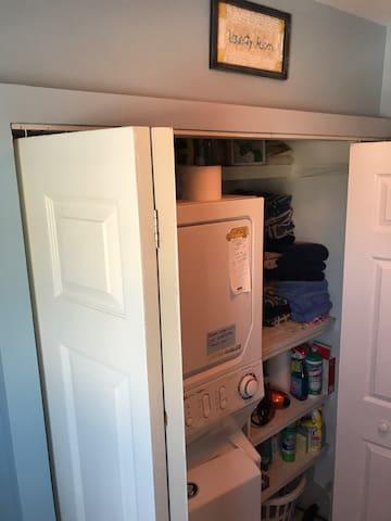 Full laundry in Bathroom Closet