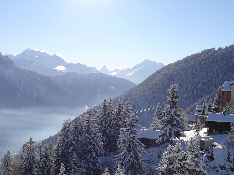 Aussicht auf die berühmtesten Schweizer Berge
