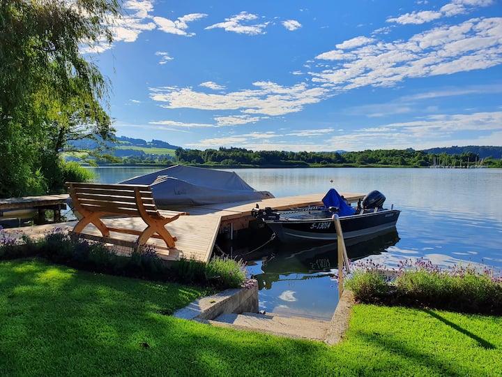 Haus am See Urlaub am See Obertrumersee Salzburg