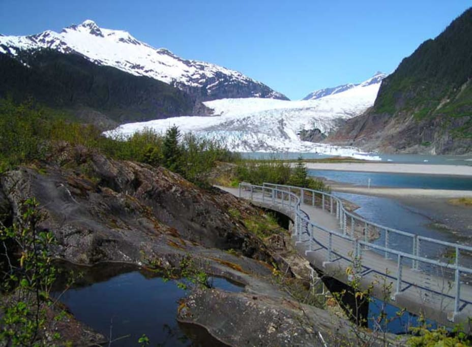 5 minutes to the Mendenhall Glacier