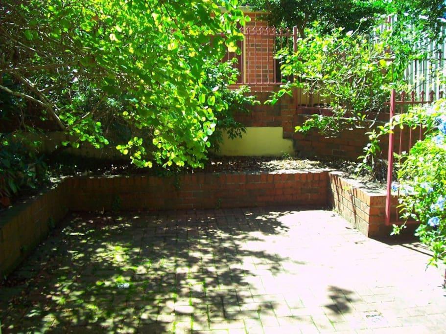 Back entrance courtyard