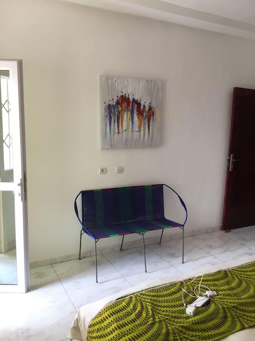 petit banc de la chambre