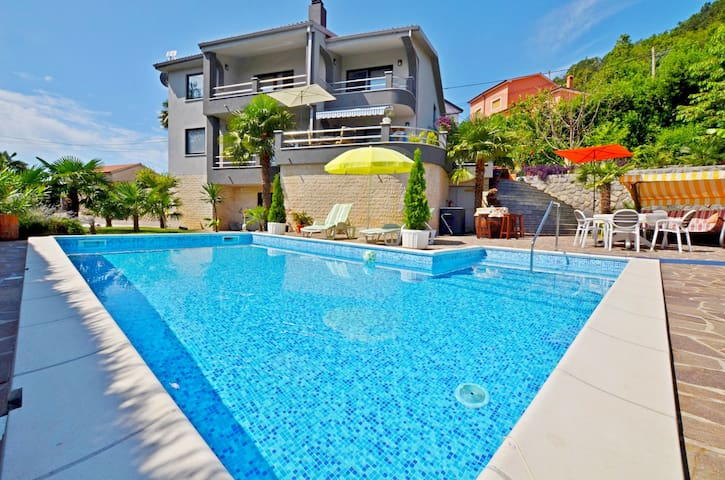 Five bedroom Villa, in Matulji, Outdoor pool