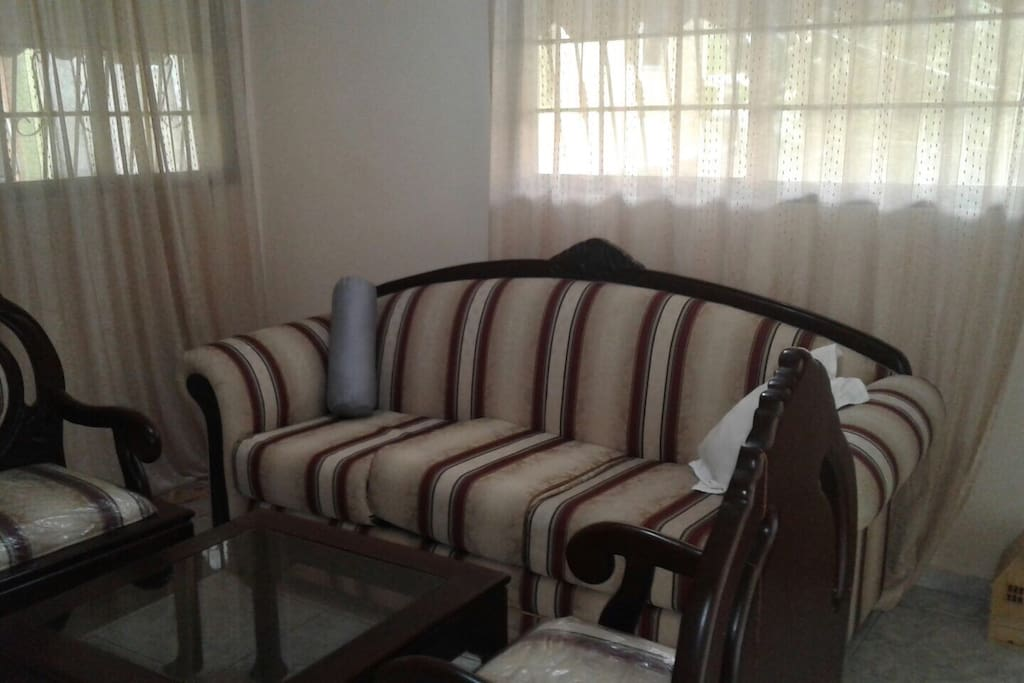 Spacious living-room fully furnished
