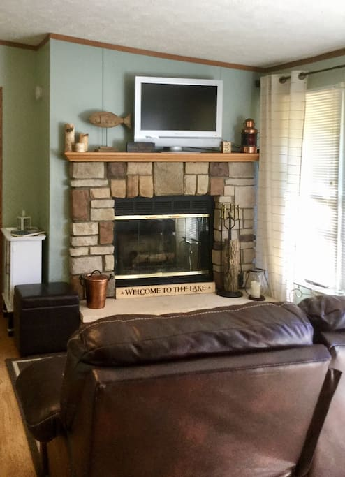 Real wood fireplace for those chilly Michigan nights!  (Bring your own firewood!)
