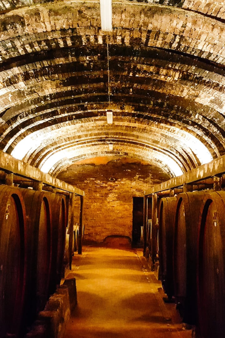 300 years old aging cellar, underground.