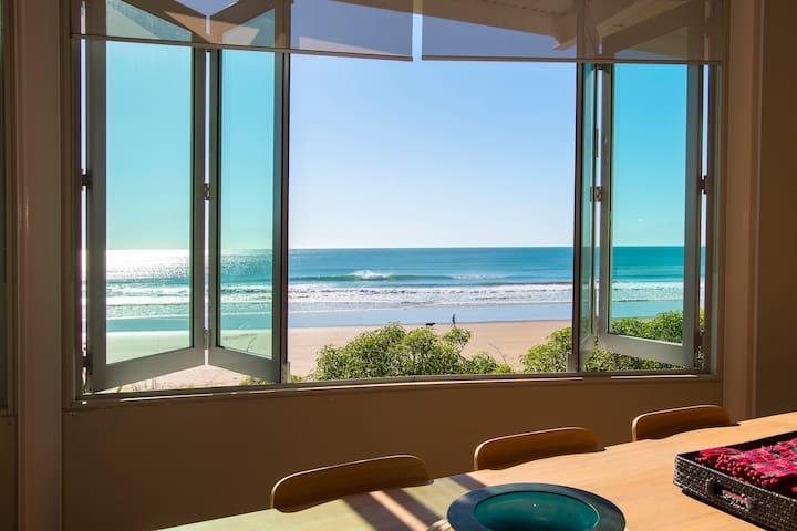 Beachfront House on Wainui Beach