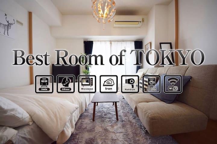NEW!40%OFF!Popular Ikebukuro area.Max.4P Wifi#AS32 - Itabashi-ku - Leilighet
