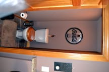 Brown Room water closet