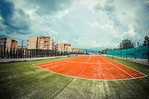 Tennis and football court