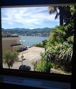 Castagnola, chambre, salle de bain privé, vue lac. - Lugano