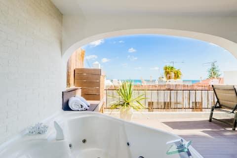 Luxus-Meerblick 2 Zimmer Wohnung in Alt Albufeira