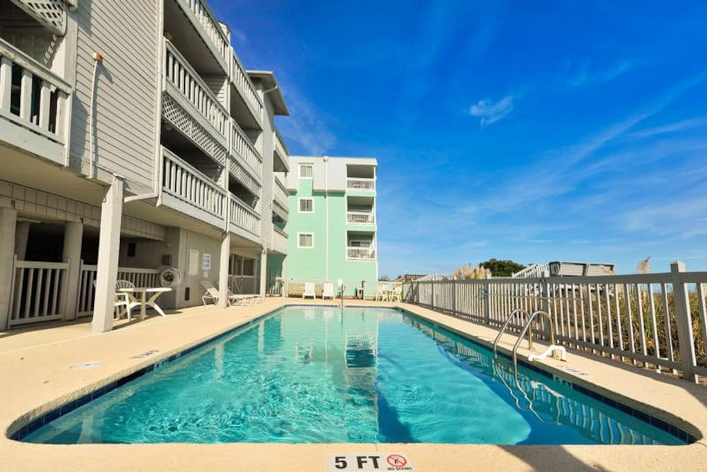 Shared community pool for the 12 Units in Windswept Villas