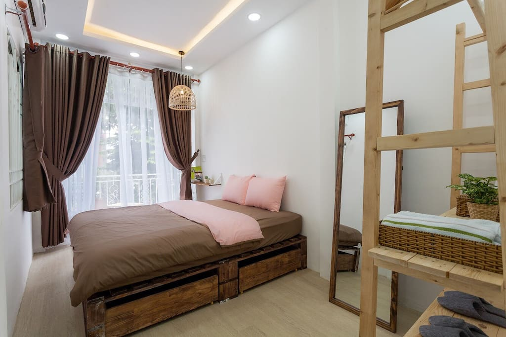 This is your room with Queen bed size.