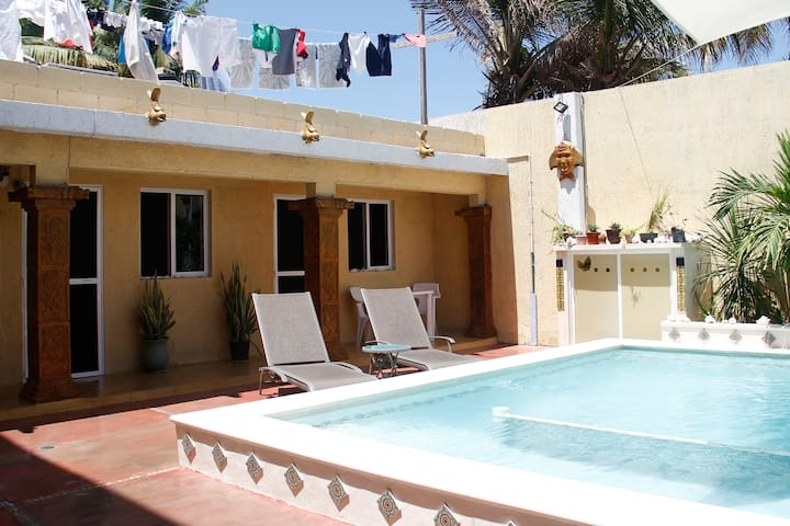 Poolside on a Budget in Chelem, Mexico!