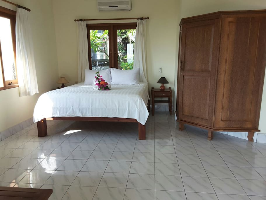King size bed in the bungalow
