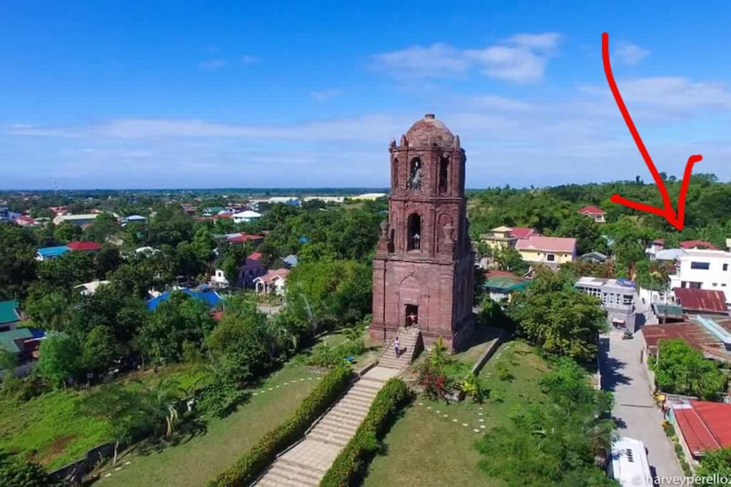"Glasshouse location is footsteps away from the famous ""Bantay Bell Tower"""
