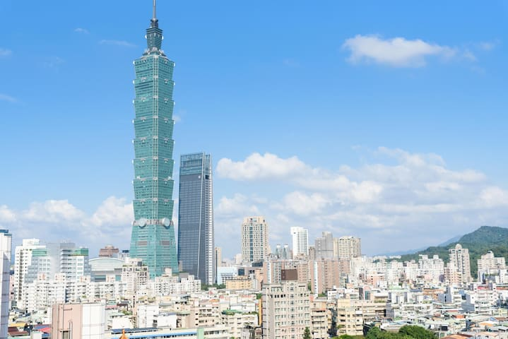 Lux Taipei101/Night Market/MRT/2-4 P/Kitchen/Loft