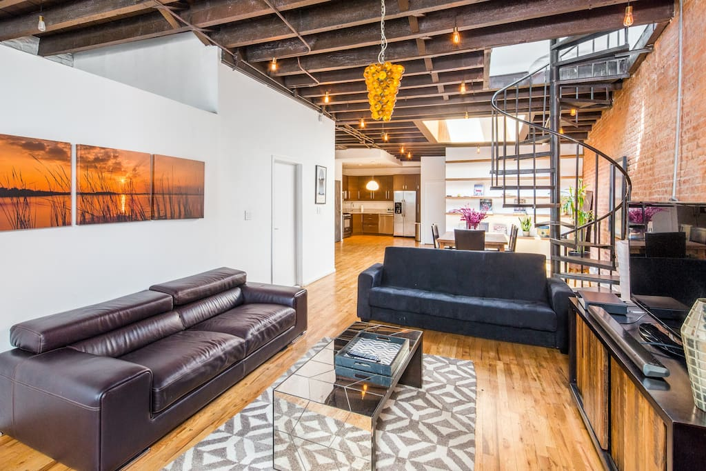 Spacious two bedroom loft in heart of manhattan lofts for rent in new york - Location loft new york manhattan ...
