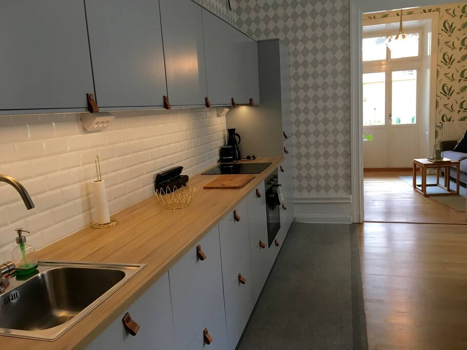 Modern kitchen with all appliances incl. dishwasher