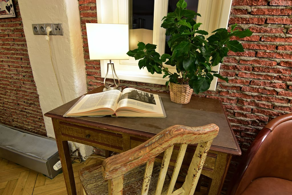 Small desk in dining room