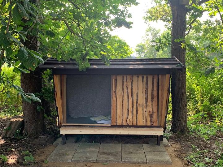 Skøn shelter i trekantsområdet, tæt på Legoland.