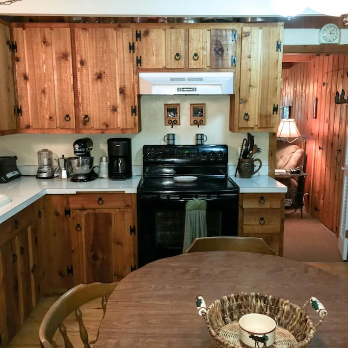Large, rustic kitchen