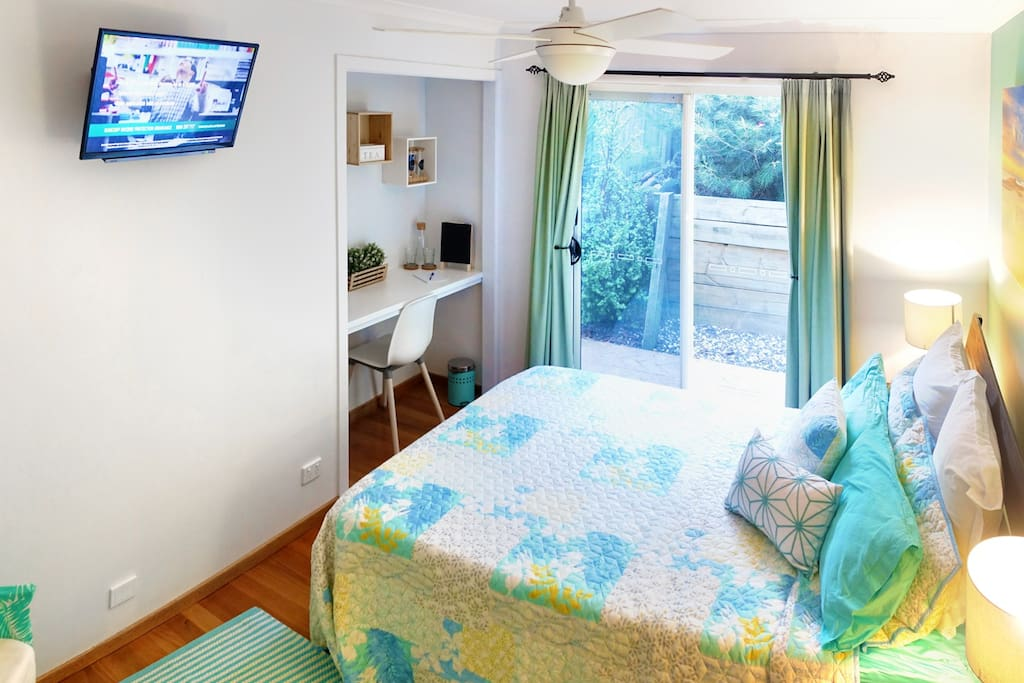 Enjoy TV viewing from your bed