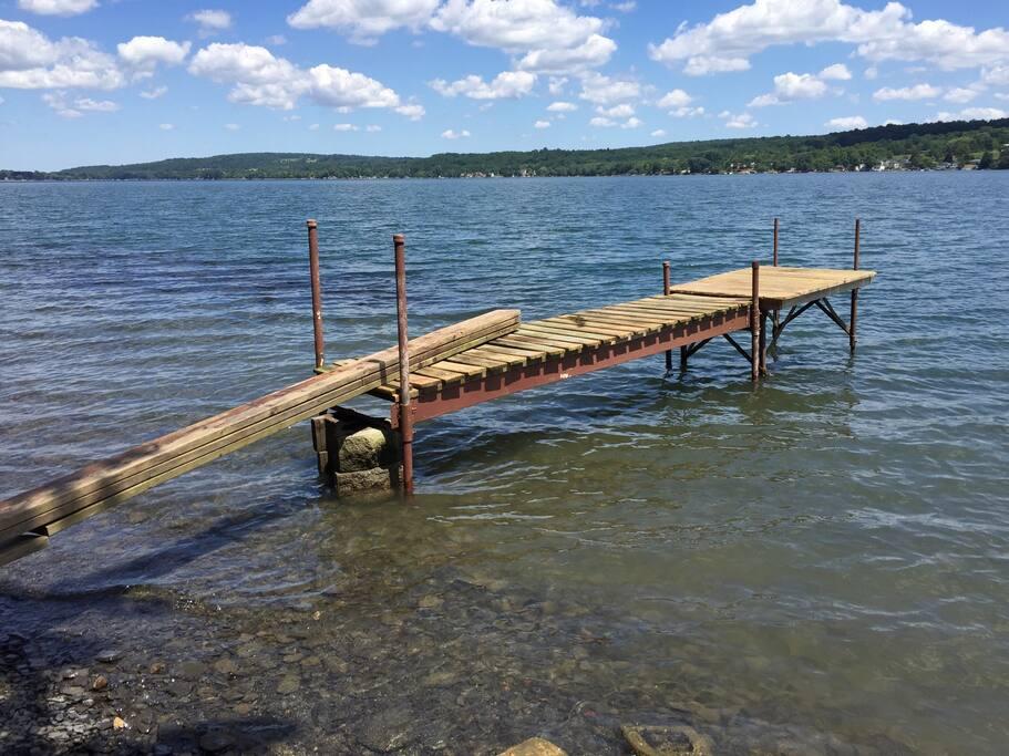 Beautiful, clear Otisco Lake