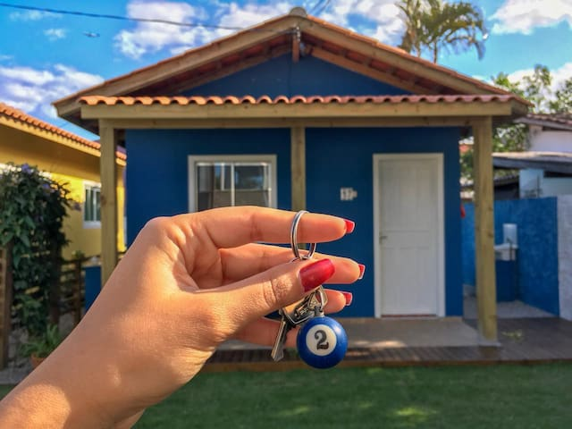 Blue House - 300 metros da praia do Campeche