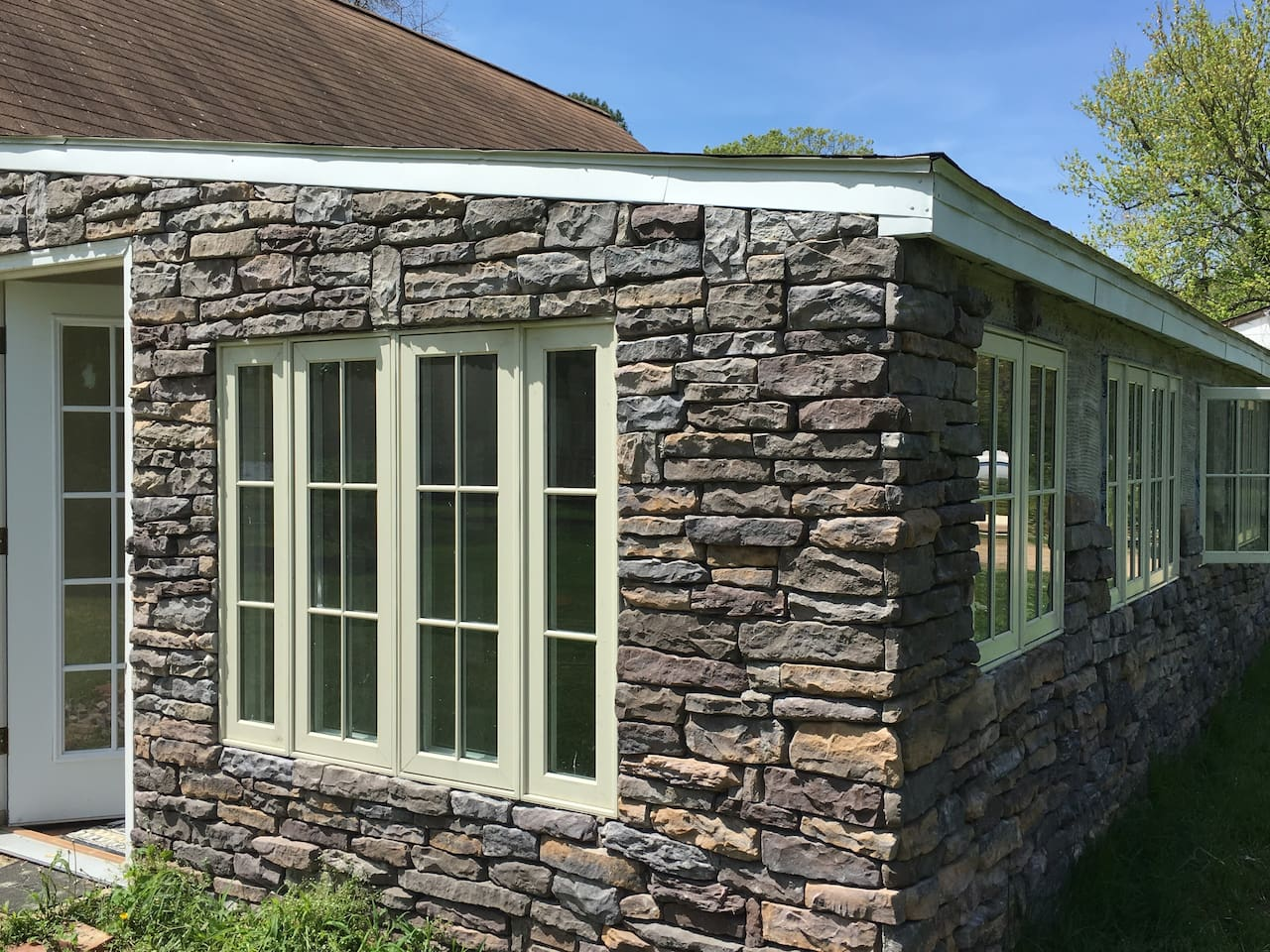 Exterior of the Stone-covered Carriage House