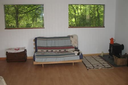Rustic 2bd cabin on horse ranch - Buckfastleigh - Bed & Breakfast