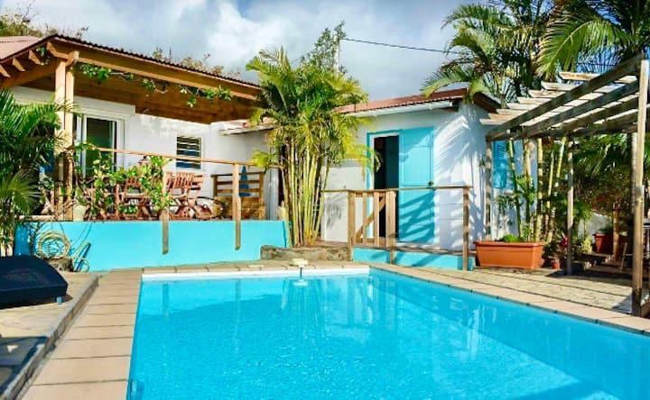 Villa St Leu vue mer proche lagon et commodités