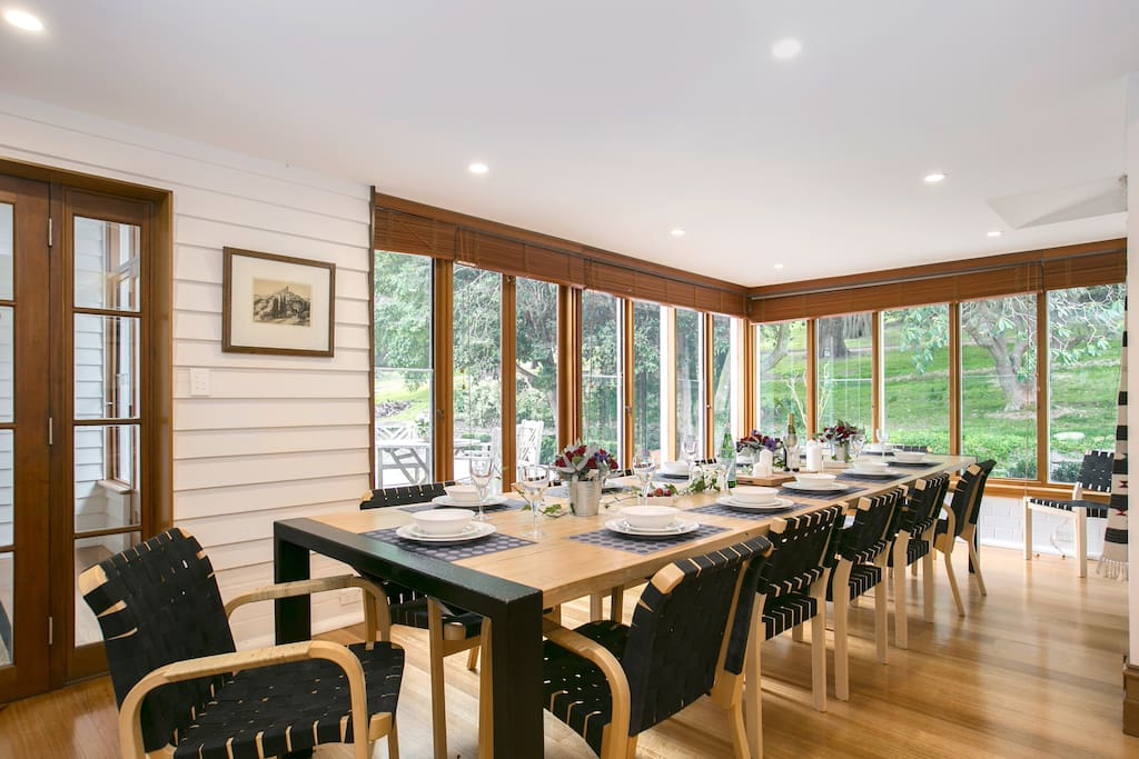 large casual dining area