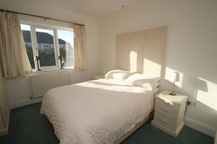 Bedroom 3 - double with extensive built in wardrobes and dressing table area