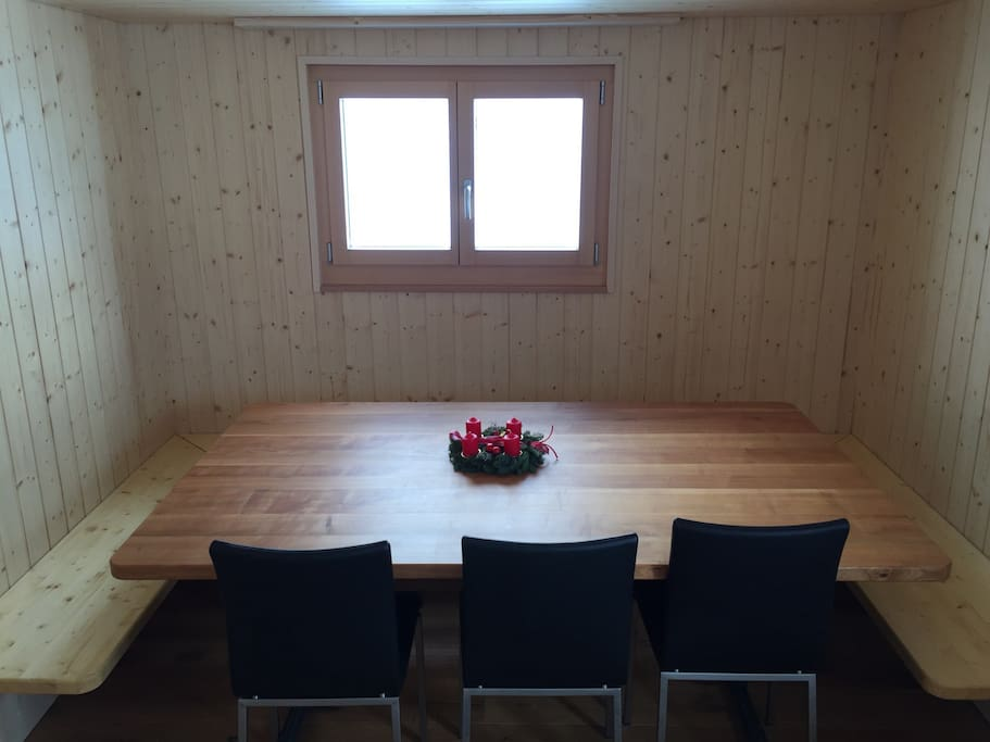 Table for up to 12 people.