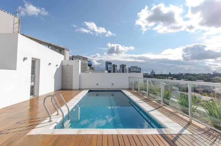 Manantiales Loft -5th floor Studio with Pool & BBQ