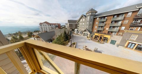 100' to slopes/dining. Mtn/village view. Hot tubs.