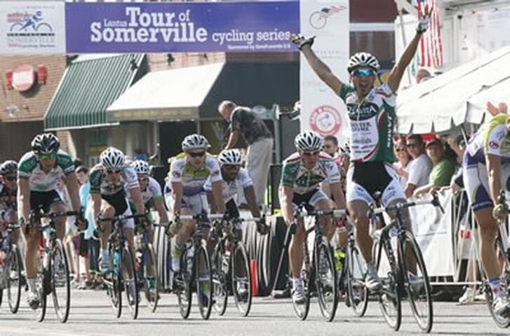 Tour of Somerville Bicycle Races      May 9                            1.5 miles away