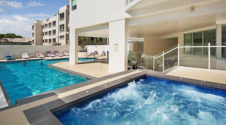 Comfortable bedroom in Aqua Vista Resort