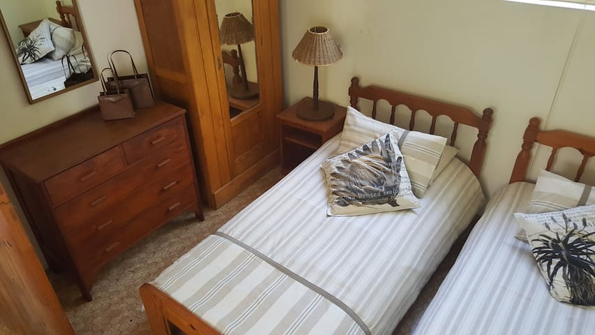 Bedroom 3, which has two x  Single beds