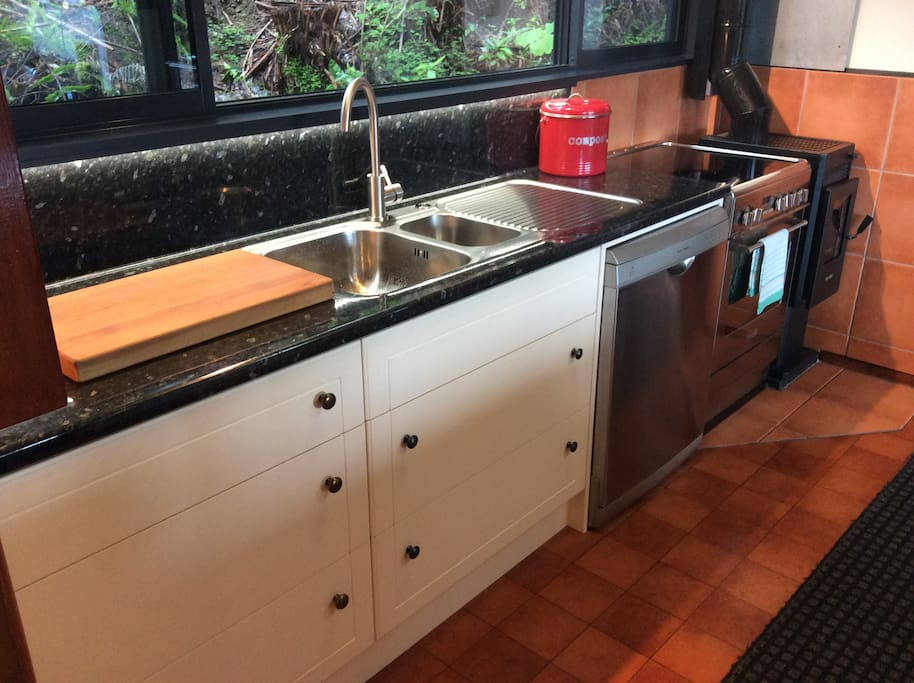 Modern well equipped kitchen with dishwasher