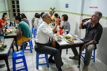 """Bun Cha Huong Lien-Bun Cha Obama"" - 24 Le Van Huu street: 4 minutes from our house by motobike"