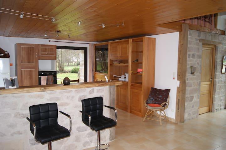 Maison type loft au cœur d'un site Clunisien