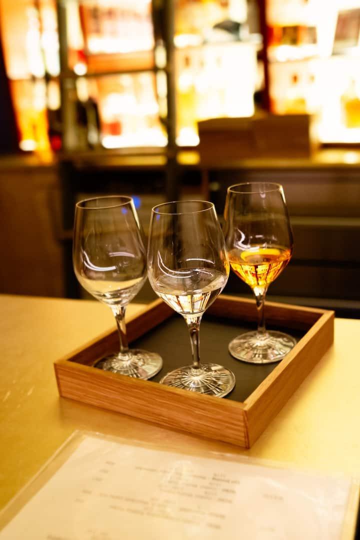 A flight of German fruit brandy